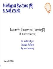 ELE888_EE8209_Lecture9 - Unsupervised Learning [2] - commented.pdf