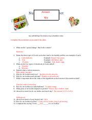 Nutrition Worksheet.Answer Key.docx