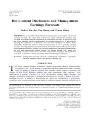 Restatement Disclosures and Management Earnings Forecasts.pdf