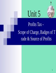 05  Profit tax - Scope of charges 2017 - s