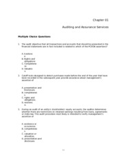 Louwers--Auditing and Assurance Services 6e