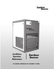 Dryer Manual - Installation Operation Maintenance Gardner ... on