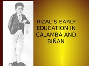 RIZAL'S EARLY EDUCATION IN BIÑAN - Copy