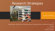 Research Strategies Presentation