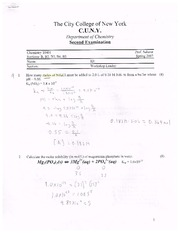 Chem 104 2nd Exam Spring 2007