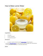 How to Make Lemon Water.docx