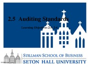 Lesson 2.5 Generally Accepted Auditing Standards
