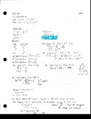 Chain Rule, Inverse Rule Notes