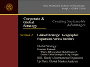 Session 2 (Part II) - Global Strategy