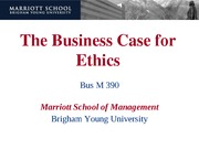 business case of ethics