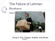 The Failure of Lehman Brothers