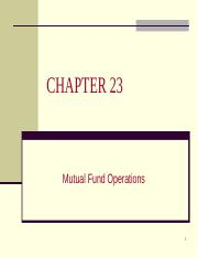 4341 ch23 - Mutual Fund Operations