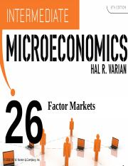 Varian_Chapter26_Factor_Markets