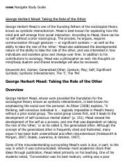 George Herbert Mead_ Taking the Role of the Other Research Paper Starter - eNotes.pdf