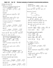 Homework 22 Solution on Precalculus