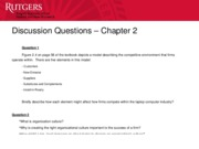 Chapter 2 - Discussion Questions