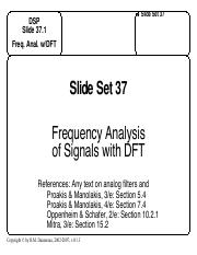 SYSC5602-SlideSet37-Frequency Analysis of Signals with DFT.pdf