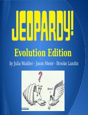 Jeopardy Evolution