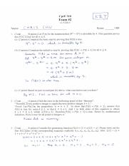Cpr E 310 Fall 2015 - Exam 2 Solutions