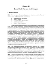 Auditing Chapter 13 Solution Manual
