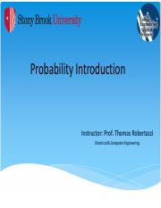 Probability Part I - Introduction - NOTES