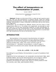 The effect of temperature on fermentation.docx