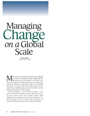 Managing Change on a Global view