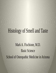 3.2 Histology of Smell and Taste.pptx