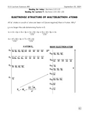 8-Electronic Structure of Multielectron Atoms