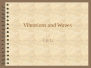 Vibrations waves and sound notes