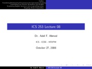 ICS253_Lecture_08