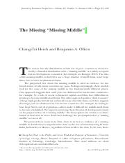 "FIN4651 Module5 Reading1- The Missing ""Missing Middle"""