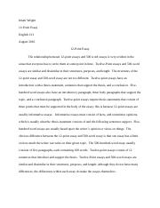 Reflective Essay  Jones  Caleb Jones Mrs Temple Eh     Pages Point Essay