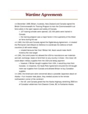 Wartime Agreements