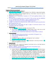 American Government Chapter 15 & 16 Notes.docx