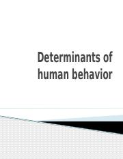 Determinants of human behaviour(0)