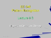 EE546_L03 - Bayesian Decision Theory