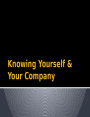 Knowing Yourself & Your Company-2.pptx