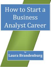 Reading 4 - Business Analyst Career