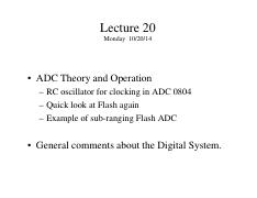 Lecture 20 - Flash ADC
