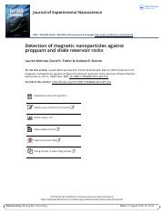 Detection of magnetic nanoparticles against proppant and shale reservoir rocks.pdf