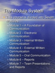 The Module System