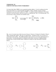 04 Substitution Reactions Worksheet