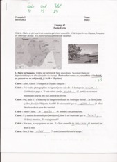 French 3, Module 13 Exam