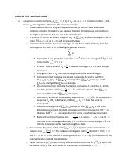 Math 153 Final Exam Study Guide Spring 13