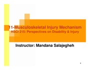 lec 11 mar 6-Musculoskeletal Injury Mechanism