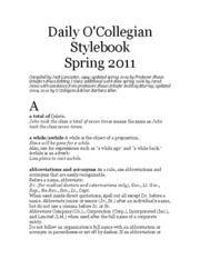 Daily O'Colly Styleguide 2011