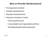 3.26.15 More on provider reimbursement and payment
