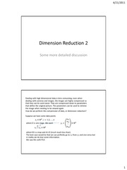 Dimension reduction2