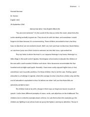 Hannah Brennan Literacy Narrative English 1102